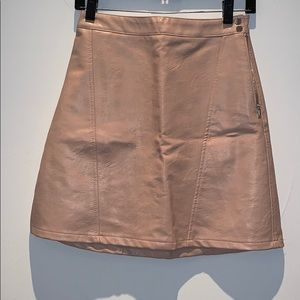 Zara Faux Soft Leather Skirt